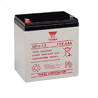 Batería de 12 Voltios 4 Amperios YUASA NP4-12