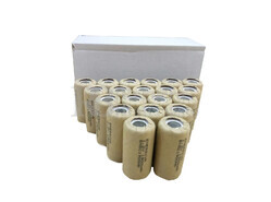 Caja de 20 Baterías Sub-c 1.2 Voltios 1.900 mah sin lengüetas para reparación de taladros