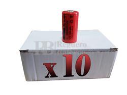 Caja de 10 Baterías Sub-c 1.2 Voltios 3.800 mah sin lengüetas para reparación de taladros