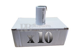 Caja de 10 Baterías Sub-c 1.2 Voltios 2.000 mah con lengüetas para reparación de taladros