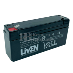 Batería 6 Voltios 3,2 Amperios Liven Battery