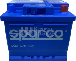 Batería Coche 12 Voltios 52 Amperios Sparco KK52