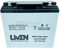 Batería 12 Voltios 22 Amperios LVH12-88 Liven Battery