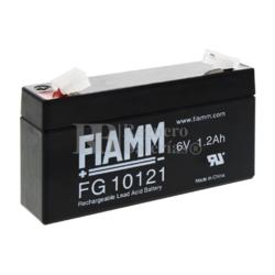 Batería 6 Voltios 1,2 Amperios Faston 4.8 mm Fiamm FG10121