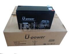 Pack 10 baterías 12 Voltios 6 Amperios UPower UP6.0-12