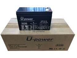Caja 10 baterías 12 Voltios 7,2 Amperios UP7.2-12
