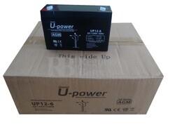 10 baterías 6 Voltios 12 Amperios U-POWER UP12-6