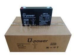 10 baterías 6 Voltios 7 Amperios U-POWER UP7-6