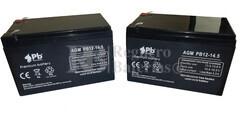 Kit baterías 24 Voltios 14,5 Amperios para Vehículos Eléctricos