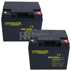 kit baterías Scooter 12 Voltios 33 Amperios MVD12330