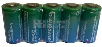 5 Pilas Litio CR123 3 Voltios 1.500 mAh Energivm