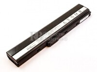 53662 Bateria compatible para ordenador ASUS K42, K53, A32-K52, Li-ion, 14,4V, 4400mAh, 63,4Wh, Negro