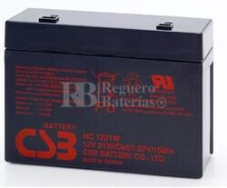 Batería RBC21 de reemplazo 1xHC1221W para SAI APC
