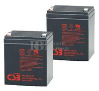 Baterías de sustitución para SAI MGE MERLIN GERIN Pulsar Ellipse 650