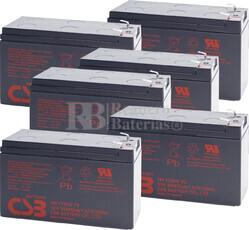 Baterías de sustitución para SAI MINUTEMAN E2000RM2U