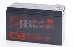 Batería de reemplazo para SAI APC compuesto de 1 unidad de batería CSB HR1234W