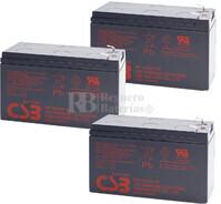 Baterías de sustitución para SAI MINUTEMAN E1500RMT2U
