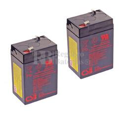 Baterías de sustitución para SAI TRIPP LITE BC250 2 xGP645