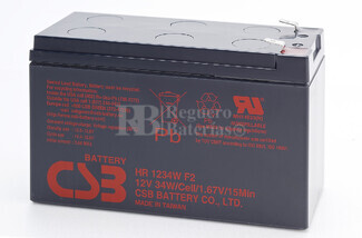 Batería BK500BLK de reemplazo 1xHR1234WF2 para SAI APC