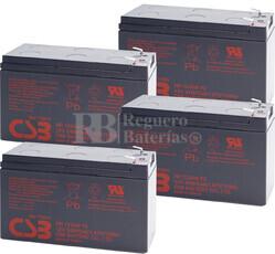 Baterías de sustitución para SAI TRIPP LITE SMART1500RMXL2U 4xHR1234W
