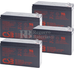 Baterías de sustitución para SAI TRIPP LITE SU1500RTXL2UA 4xHR1234W