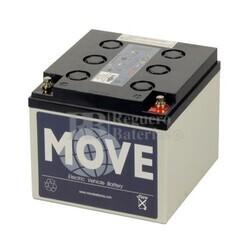 Batería de GEL Ciclica para Carrito de Golf alta descarga 12 voltios 25 amperios