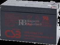 Batería SAI 12 Voltios 7,2 Amperios CSB UPS12360-7F2