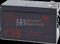 Bateria para SAI 12 Voltios 7,2 Amperios CSB UPS12360-7F2
