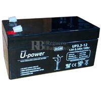 Batería SAI 12 Voltios 3,3 Amperios U-POWER UP3.3-12