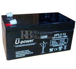 Batería SAI 12 Voltios 3,3 Amperios U-POWER UP3.3-12