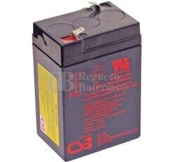 Batería SAI  6 Voltios 4,5 Amperios CSB GP645