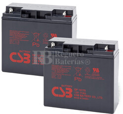 Baterías de sustitución para SAI DELTEC PRA1500