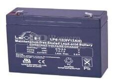 Batería SAI  6 Voltios 12 Amperios LEOCH LP6-12