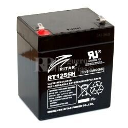 Batería para Patines Eléctricos 12 Voltios 5 Amperios RITAR RT1255H