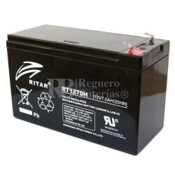 Batería para Alarma de 12 Voltios 7 Amperios de Alta Descarga RITAR RT1270H