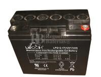 Batería GEL Carrito de Golf 12 voltios 18 amperios LEOCH LPG12-17