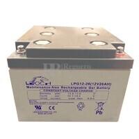 Batería GEL Carrito de Golf 12 voltios 26 amperios LEOCH LPG12-26