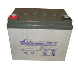 Batería GEL para Carrito de Golf 12 voltios 33 amperios LEOCH LPG12-33