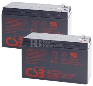 Baterías de sustitución para SAI TRIPP LITE SMX750SLT 2xHR1234WF2