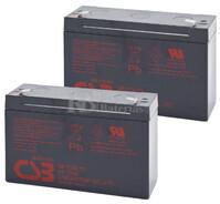 Baterías de sustitución para SAI DATASHIELD PC200  2xGP6120