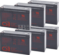 Baterías de sustitución para SAI ELGAR IPS/A.I.1200US  6xGP6120