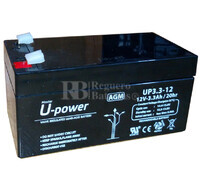 Batería para Ascensores 12 Voltios 3,2 Amperios U-POWER UP3.3-12