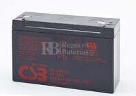 Batería para Ascensores  6 Voltios 12 Amperios CSB GP6120