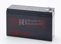 Batería para Ascensores 12 Voltios 6,5 Amperios CSB HR1224W