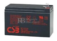 Batería para Ascensores 12 Voltios 7,2 Amperios CSB GP1272F2