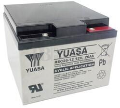 Batería Carrito de Golf 12 voltios 26 amperios YUASA REC26-12