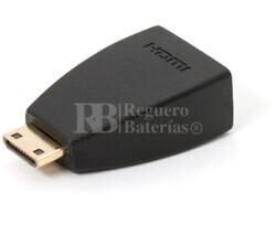 Adaptador de HDMI hembra a Mini HDMI macho