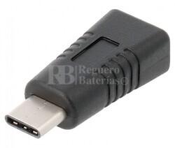 Adaptador de micro-USB 2.0 hembra a USB-C macho