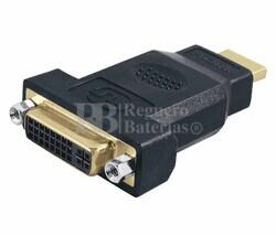 Adaptador DVI-D estéreo hembra a HDMI macho