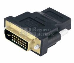 Adaptador DVI-D estéreo macho a HDMI hembra